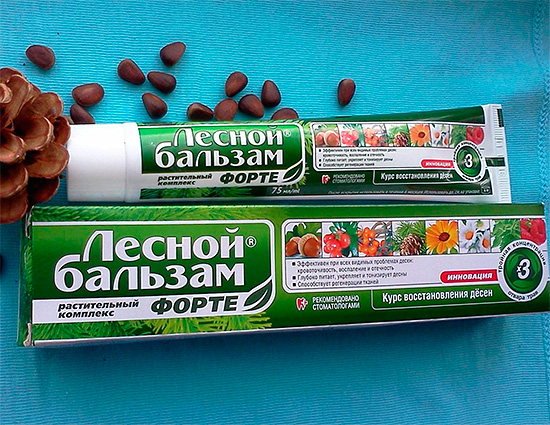 Паста за зъби Forest Balsam Forte.